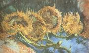 Four Cut Sunflowers (nn04), Vincent Van Gogh