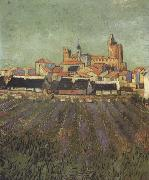 View of Saintes-Maries (nn04), Vincent Van Gogh