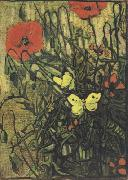 Poppies and Butterflies (nn04), Vincent Van Gogh