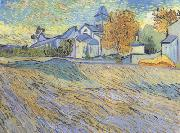 View of the Church of Saint-Paul de-Mausole (nn04), Vincent Van Gogh