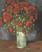 Vase wtih Red Poppies (nn040, Vincent Van Gogh