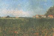 Farmhouses in a Wheat Field near Arles (nn04), Vincent Van Gogh