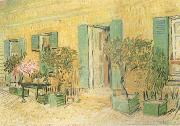 Vincent Van Gogh Exterio of a Restaurant at Asnieres (nn04) oil painting reproduction