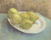 Still life with Lemons on a Plate (nn04), Vincent Van Gogh