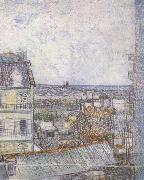 View of Paris from Vincent's Room in the Rue Lepic (nn04), Vincent Van Gogh