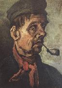 Head of a Peasant with a Pipe (nn040, Vincent Van Gogh