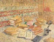 Still life with French Novels and a Rose (nn04), Vincent Van Gogh