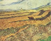 Field with Ploughman and Mill (nn04), Vincent Van Gogh