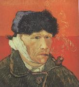 Self-Portrait with Bandaged Ear and Pipe (nn04), Vincent Van Gogh