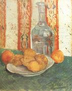 Still life with Decanter and Lemons on a Plate (nn04), Vincent Van Gogh