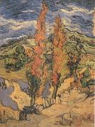 Two Poplars on a Road through the Hills (nn04)