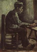 Peasant Sitting at a Table (nn04), Vincent Van Gogh
