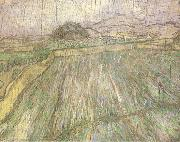 Wheat Field in Rain (nn04), Vincent Van Gogh
