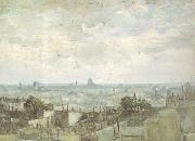 View of the Roofs of Paris (nn04), Vincent Van Gogh