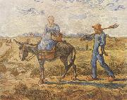 Morning:Peasant Couple Going to Work (nn04), Vincent Van Gogh