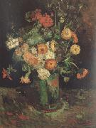 Vase with Zinnias and Geraniums (nn04), Vincent Van Gogh