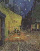 The Cafe Terrace on the Place du Forum,Arles,at Night (nn04), Vincent Van Gogh