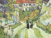 Village Street and Steps in Auers with Figures (nn04)