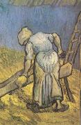 Peasant Woman Cutting Straw (nn04), Vincent Van Gogh