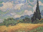 Wheat Field with Cypresses at the Haute Galline near Eygalieres (nn04), Vincent Van Gogh