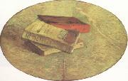 Vincent Van Gogh Still Life wtih Three Books (nn04) oil painting on canvas