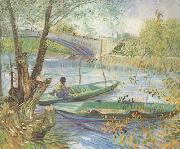Fishing in the Spring,Pont de Clichy (nn04), Vincent Van Gogh