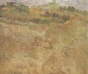 Wheat Fields with Auvers in the Background (nn04), Vincent Van Gogh