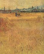 Arles:Vew from the Wheat Fields (nn04), Vincent Van Gogh