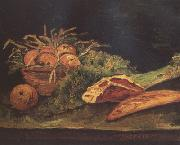 Still Life wtih Apples,Meat and a Roll (nn04), Vincent Van Gogh