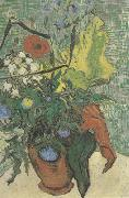 Wild Flowers and Thistles in a Vase (nn04), Vincent Van Gogh
