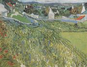 Vineyard with a View of Auvers (nn04), Vincent Van Gogh