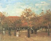 The Bois de Boulogne with People Walking (nn04), Vincent Van Gogh