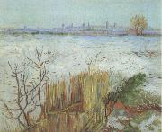 Snowy Landscape with Arles in the Background (nn04), Vincent Van Gogh