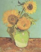 Three Sunflowers in a Vase (nn04)