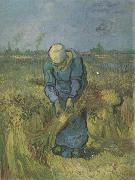 Peasant Woman Binding Sheaves (nn04), Vincent Van Gogh