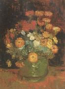 Vase with Zinnias (nn04), Vincent Van Gogh