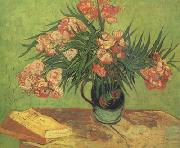 Still life:Vast with Oleanders and Books (nn04), Vincent Van Gogh