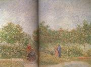 Couples in the Voyer d'Argenson Park at Asieres (nn04), Vincent Van Gogh