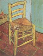 Vincent's Chair with His Pipe (nn04), Vincent Van Gogh
