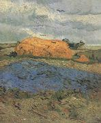 Haystacks under a Rainy Sky (nn04), Vincent Van Gogh