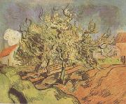 Landscape with Three and a House (nn04), Vincent Van Gogh