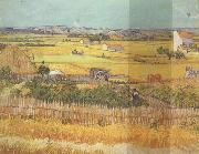 Havest at La Crau,wtih Mountmajour in the Background (nn04), Vincent Van Gogh