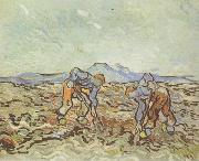 Peasants Lifting Potatoes (nn04), Vincent Van Gogh