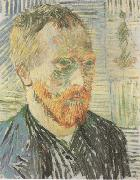 Self-Portrait with a Japanese Print (nn04), Vincent Van Gogh