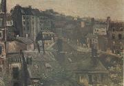 View of the Roofs Paris (nn04), Vincent Van Gogh