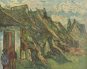 Thatched Sandstone Cottages in Chaponval (nn04), Vincent Van Gogh