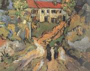 Village Street and Step in Auvers with Two Figures (nn04)