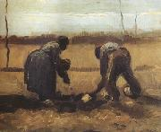 Peasant and Peasant Woman Planting Potatoes (nn04), Vincent Van Gogh