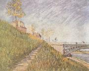 Banks of the Seine wtih the Pont de Clichy (nn04), Vincent Van Gogh