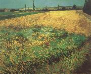Wheat Field with the Alpilles Foothills in the Background (nn04), Vincent Van Gogh